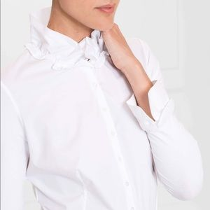 Anne Fontaine • White classic collared blouse
